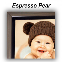 Espresso Pear Floating Frame