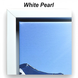 White Pearl Floating Frame