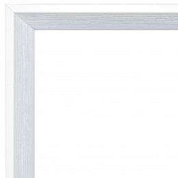 Faux Wood White Inset Frame