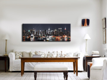 "New York City 48"" X 16"" # 9040 Color Free Shipping"