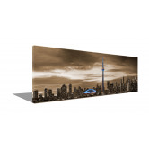 "Toronto 72"" X 24""  Sepia with blue"